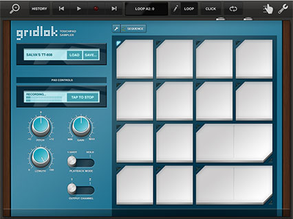 Gridlok touchpad sampler, recording sample
